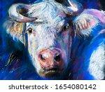 Pastel Portrait Painting. White ...