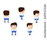 businessman cartoon in... | Shutterstock .eps vector #165412166