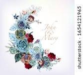 beautiful invitation vector... | Shutterstock .eps vector #1654121965