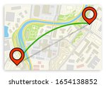 flat city map navigation with... | Shutterstock .eps vector #1654138852