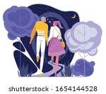 couple in love having romantic... | Shutterstock .eps vector #1654144528