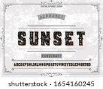 vintage font.alphabet.typeface... | Shutterstock .eps vector #1654160245