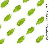 green tea leaves on white... | Shutterstock .eps vector #1654172755