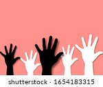 black and white hands with a... | Shutterstock . vector #1654183315
