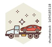 vehicle towing concept ...   Shutterstock .eps vector #1654185118