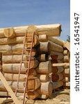 log home construction | Shutterstock . vector #16541947
