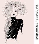 pretty girl | Shutterstock .eps vector #165420446
