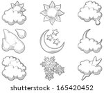 weather icons  at engraving... | Shutterstock .eps vector #165420452