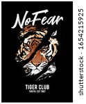 no fear slogan with tiger... | Shutterstock .eps vector #1654215925