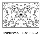 floral decorative ornamental... | Shutterstock .eps vector #1654218265