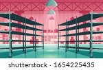 warehouse interior with empty... | Shutterstock .eps vector #1654225435