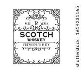 hand drawn premium alcohol... | Shutterstock .eps vector #1654231165