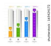 conceptual design of paper... | Shutterstock .eps vector #165424172