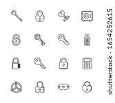 keys  locks  safety padlock... | Shutterstock .eps vector #1654252615