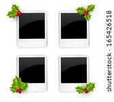 set of christmas photo frames | Shutterstock .eps vector #165426518