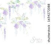 branch of wisteria. hand draw...   Shutterstock . vector #1654272088