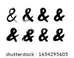 ampersand letter mark of ink...   Shutterstock .eps vector #1654295605