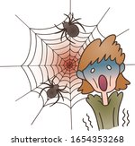 woman is suffering from spider...   Shutterstock .eps vector #1654353268