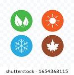 four season icon. vector... | Shutterstock .eps vector #1654368115