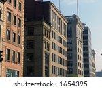 Row of old buildings on Tremont Street in Boston Massachusetts