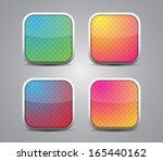 set of glossy buttons   icons... | Shutterstock .eps vector #165440162