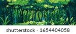 wild wet dark jungle forest... | Shutterstock .eps vector #1654404058