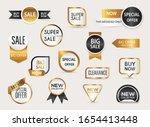 collection of golden premium... | Shutterstock .eps vector #1654413448