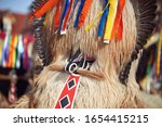 colorful face of kurent ... | Shutterstock . vector #1654415215