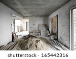 being renovated house | Shutterstock . vector #165442316