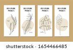 set of flyers with continuous...   Shutterstock .eps vector #1654466485