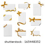 collection of various note card ... | Shutterstock . vector #165448352