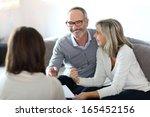 senior couple meeting financial ... | Shutterstock . vector #165452156