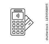 payment  nfc  card icon. simple ...