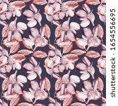 Purple Flowers Seamless Pattern....