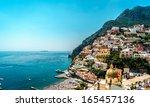 amazing amalfi coast. positano  ...   Shutterstock . vector #165457136