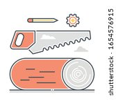 saw related color line vector... | Shutterstock .eps vector #1654576915
