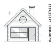 log house related color line... | Shutterstock .eps vector #1654576918