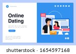 web page design with online... | Shutterstock .eps vector #1654597168