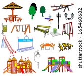 outdoor park vector elements... | Shutterstock .eps vector #165460682