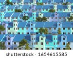 Many Low Rise Houses With...
