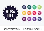 90  discount price off. sale... | Shutterstock .eps vector #1654617208