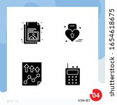 modern pack of 4 icons. solid... | Shutterstock .eps vector #1654618675