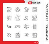 creative set of 16 universal... | Shutterstock .eps vector #1654618702