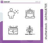 set of 4 icons in line style.... | Shutterstock .eps vector #1654618705