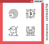 4 icon pack line style outline... | Shutterstock .eps vector #1654618708
