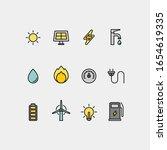 power and energy flat vector... | Shutterstock .eps vector #1654619335