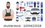 bearded hipster barber.... | Shutterstock .eps vector #1654621018