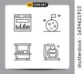 4 black icon pack outline... | Shutterstock .eps vector #1654621915
