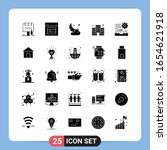 25 solid black icon pack glyph... | Shutterstock .eps vector #1654621918