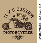 t shirt print with motorcycle... | Shutterstock .eps vector #1654623415
